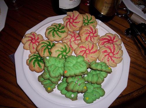 Almond Christmas Tree And Nutmeg Cookies The Internet Food Association