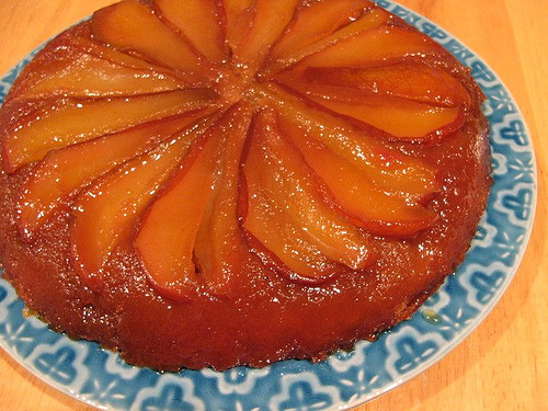 Honey-Glazed Pear Upside-Down Cake